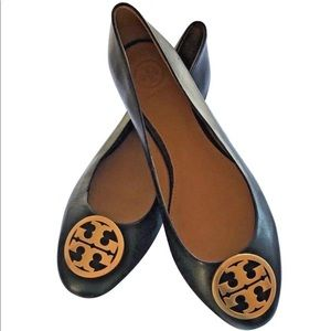 NEW Tory Burch Chelsea Leather Ballet Flats
